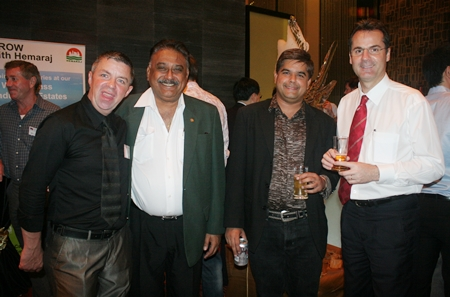 (L to R) Paul Strachan, Pratheep (Peter) Malhotra (MD of  the Pattaya Mail Media Group), Tony Malhotra (Deputy Managing Director Pattaya Mail Publishing Co., Ltd.), and Richard Margo (Resident Manager Amari Orchid Pattaya) all look quite dapper.