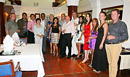 A handful of friends gathered at Casa Pascal to celebrate the happy occasion.