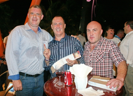 (L to R) Joe Cox, Tony Ryan, and Seamie English prepare for the upcoming raffle.