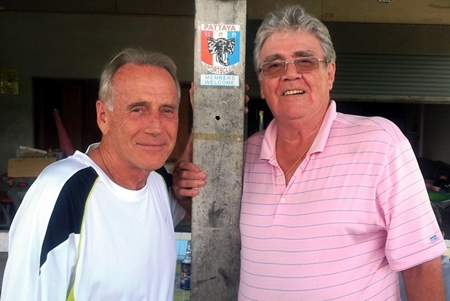 Dale Murphy, left, with Larry.