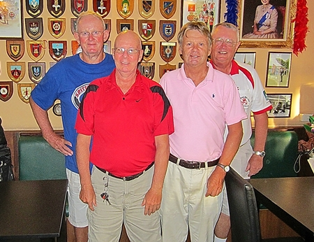 Tuesday's top four: Max Scott, Dick Warberg, Steve Hamstad and Brian Parrish.
