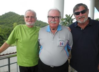 Monday's top three (L-R): Dave Neil, Dave Richardson and Mike Winfield.