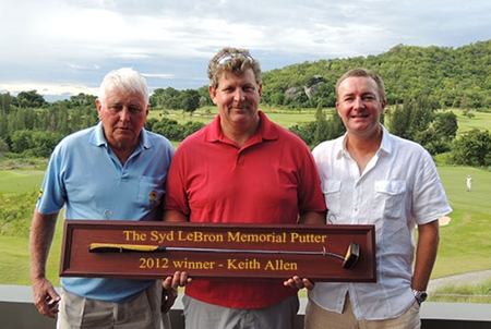 Winner Keith Allen, centre, flanked by runners-up Barry McIntosh, left, and Dave Branigan.