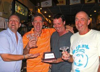 Mugs indeed! Darren Allcock, Diego Wells, John McHugh and Phil Smedley.