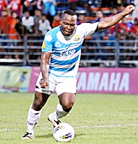Pattaya United's two-goal hero, Ludovick Takam. (Photo/Pattaya United)