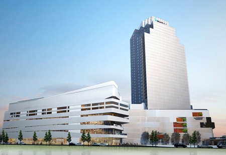 An artist's impression of the Bhiraj Tower in Bangkok.