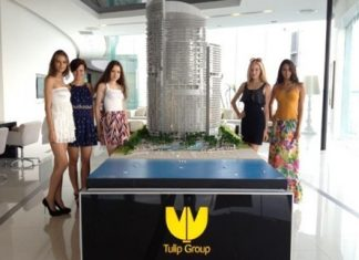Models pose in the showroom suites of the Centara Grand Residence in Na Jomtien.