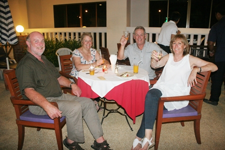 Cheers! Here's to a fabulous night by the pool.