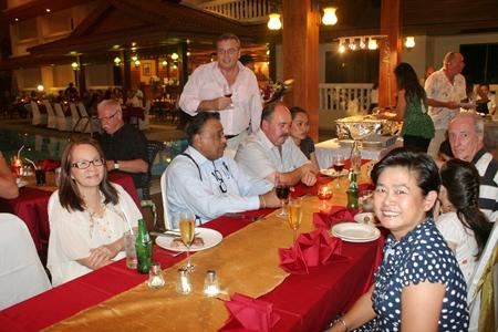 The consummate host, Ib Ottesen mingles with the happy crowd.