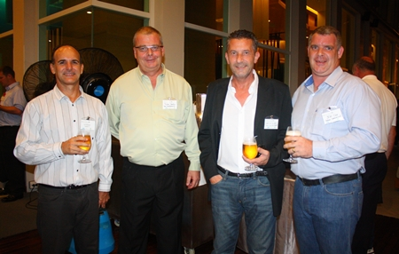 (L to R) Les Nyerges from Capital TV, Julian Stanley from New Development, Cees Cuijpers from Town Country Property and Joe Cox from Defence International.