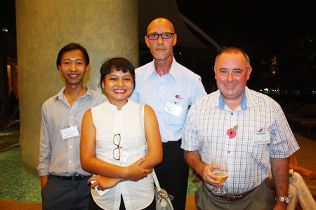 (L to R) Phooritut Uthaiwong, Assistant Manager of Manpower; Phinya Wonsantia, Recruitment Consultant, Manpower Group, Armin Walter, Production Manager, EFTEC (Thailand) Co., Ltd., and Shaun Burke, Branch Manager, Cromwell-Tools (Thailand) Co., Ltd.