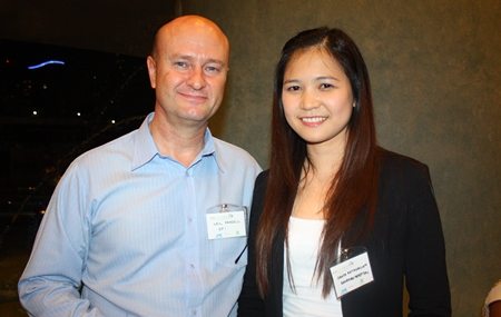 Neil Farrell, Business Development Manager, Elastomer Products (Thailand) Co., Ltd., and Janya Rattanaliam, Deputy Head of the Bangkok Hospital Pattaya International Marketing Department.
