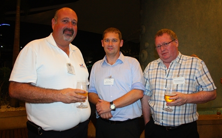(L to R) Scott Finsten from Ocean Marina, Mark Carroll from AustCham Thailand and Simon Farbenbloom from the Australian Embassy.
