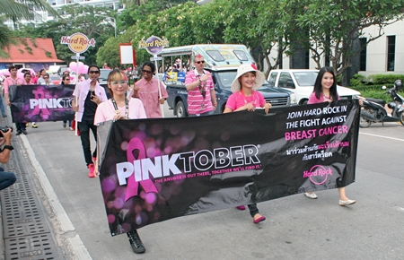 The annual Pinktober campaign to raise breast cancer awareness began this year with a parade down Beach Road.