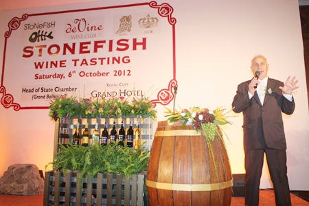 Peter Papanikitas brightens the night with his tales of Stonefish wines.