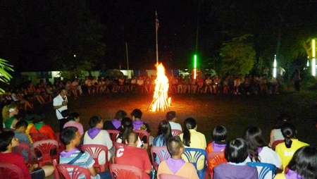 The ceremonial bonfire brought the RYLA camp to a close.