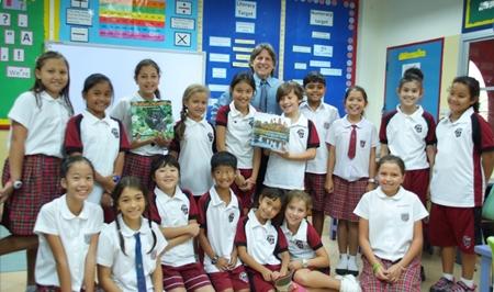 Richard Sobol with the Primary School's Eco-dudes.