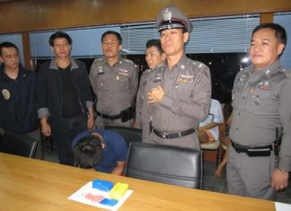 Police announce the results of their much-publicized one-day sweep by more than 400 police officers in North Pattaya.