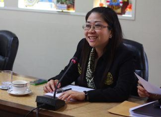 Yuwathida Jeerapat, member of Pattaya council and City Hall's new spokesperson, said she will call press conferences the second and fourth Fridays of each month.