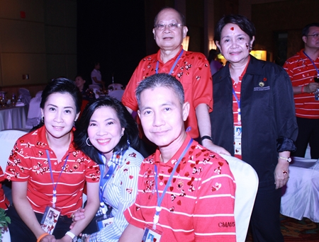 Seating from left: Sawitree Damapong, president of Women Police Association; Supatra Chirathivat, Cantara' SVP of Corporate Affairs & Social Responsibilities; Dr. Possawat Kanoknark, Supreme Court Justice. Standing Sompol Kiatpaiboon, Stock Exchange of Thailand Chairman and Pimpapaan Charnsilpa, Director General SACICT - the Support Arts and Crafts International Centre of Thailand (Public Organization).