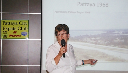 Ann Winfield, president of Pattaya International Ladies Club, began by telling us of the very interesting history of PILC, and also some of the history of Pattaya, as this 1968 photo shows.