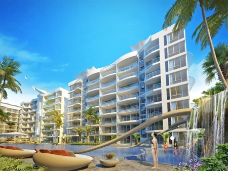 The development will include a 200 room 4 star hotel and 6 condominium buildings on a total land area of just under 16,500sqm.