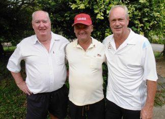 Bernie McCart, Sandy Leiper & Martin Todd.