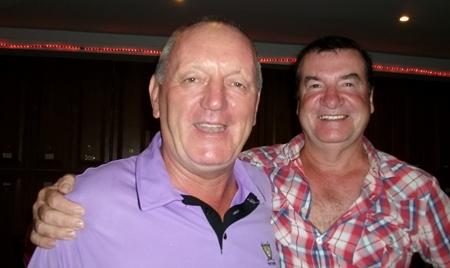 Sunday's winners - Bob Newell, left, and Christy Knight.
