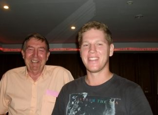 Brad Dippie, right, with Eddy Beilby.