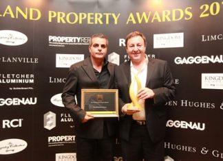 Kobi Elbaz (left) and Rony Fineman (right) accept their prestigious awards.