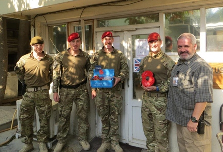 The Thailand branch stretches far and wide; here branch member Mo Morrison (left) is collecting in Kabul Afghanistan, we raised $1,300.