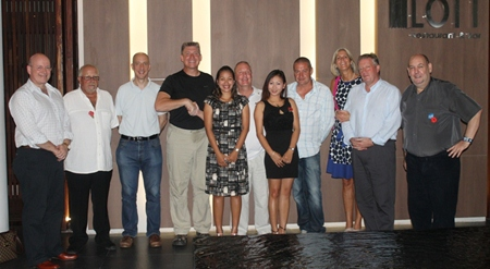 Members of the support team with the British Ambassador, British Defence Attaché & wife and Graham Macdonald.