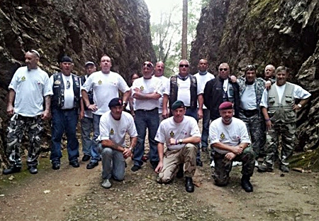Some of the riders in Hellfire Pass.