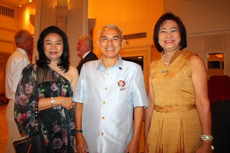 Friends from Rotary Club of Plutaluang (l-r) Sumon Jaikid, Capt. Don Adinand and Onanong Siripornmanut.