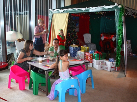 The children's activity area included a wonderful Santa's Grotto.
