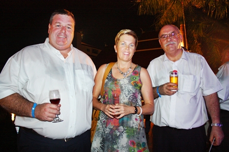 (L to R) Simon Dutton, Business Development Manager of ltic Global Construction & Completion; Jennifer Conn and Malcolm T. Williams, GM of Promech Resources Co., Ltd.