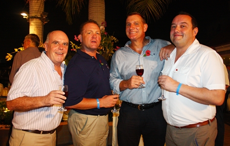 (L to R) Joe Grunwell, MD of Comcon Group, Darren Allcock, Sales Executive with Heights Holdings, Simon Philbrook, Client Advisor for MBMG Group and Clark Mckeown.