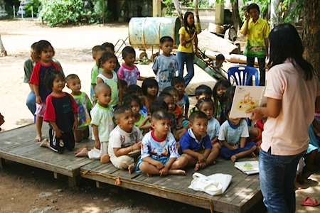 The expression in the little children's face is worth all the effort we put in.