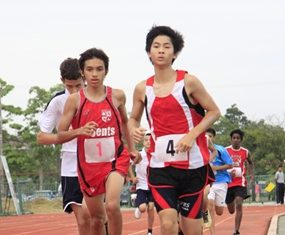 Students found they needed stamina and strength to run the 1500m race.