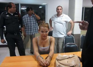 Cambodian ladyboy identified only as Wee has been charged with theft.