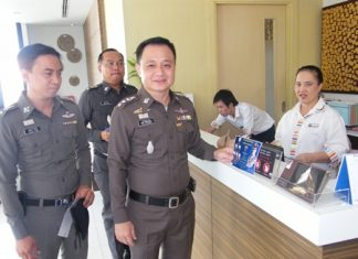 Chonburi Immigration Police officials have been meeting with and visiting area hotels to remind them of the need to report check-ins of foreign tourists.