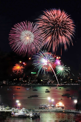 Last Year's fireworks festival was an amazing spectacle.  Organizers hope this year's festival, although apparently smaller, will be just as amazing.