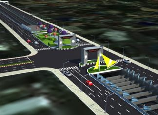This artist's rendering shows what the new underpass might look like if completed.