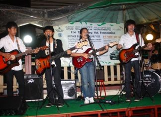 The Passover Band performs a charity concert for the Glory Hut Foundation.