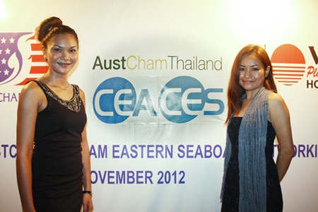 CES Sales Manager Patchararatch Tanasetpiwat and CES Sales & Marketing Manager Manita Boontham add heaps of pulchritude to the event.