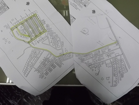 A map of the area highlighting PWA plans.