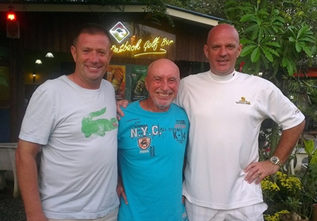 Friday winners (from left): Martin Kingswood, Sugar Ray and Andy Butterworth.