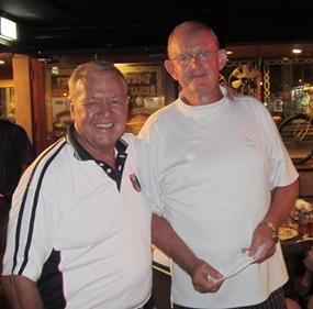 Low gross winner Max Scott (right) with Golf Chairman Joe Mooneyham.