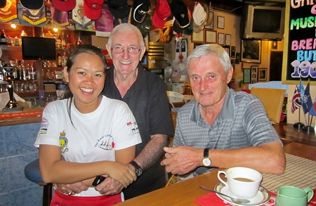Barry Oats and Paul Sharples with one of 'Bert's finest'.