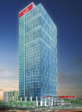 An artist's impression of the AIA Capital Center, a 35 storey Grade A office tower due for completion in 2014.